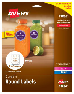 avery round labels 2 1 2 diameter 72 labels 22856 avery com