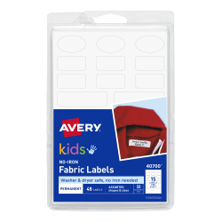 Avery fabric Labels