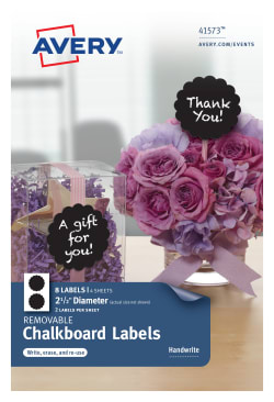 avery removable chalkboard labels black 2 1 2 diameter 8 labels