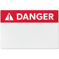 avery ansi danger header sign labels for thermal transfer printers