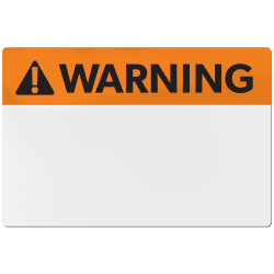avery ansi warning header sign labels for thermal transfer printers