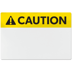 avery ansi caution header sign labels for thermal transfer printers