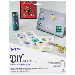 Avery® DIY Decals with Surface Safe™ Adhesive, 8-1/2