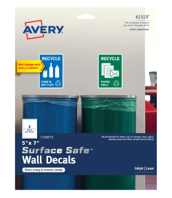 avery surface safe wall decals removable adhesive 5 x 7 6