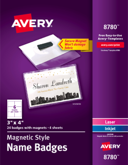 avery secure magnetic name badges 8780 avery com