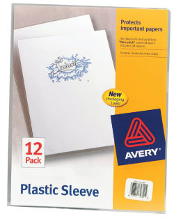 Avery plastic sleeves clear 72311 avery media1 m4hsunfo