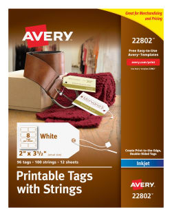 picture relating to Avery Printable Tags called Avery® Printable Tags with Strings, 2\
