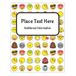 graphic about Printable Emoji Stickers titled Totally free Themed Birthday Printables