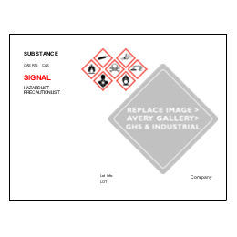 UltraDuty GHS Chemical Labels Predesign Templates Averycom - Ghs label template