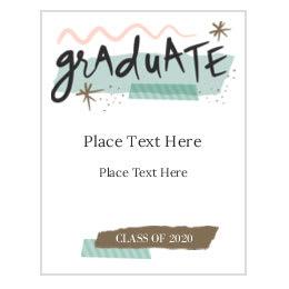 Averycom - Graduation postcard template