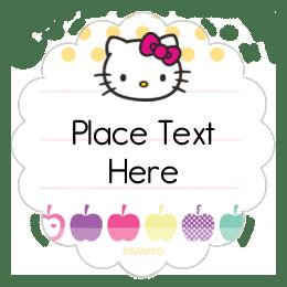 Customizable Hello Kitty Printable Templates Averycom