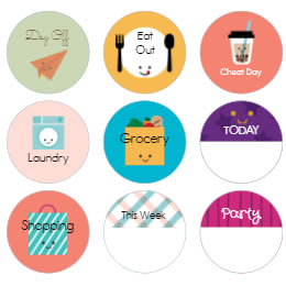 graphic about Printable Circle Stickers called
