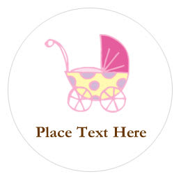 Customizable baby shower templates avery 1 round label pronofoot35fo Images