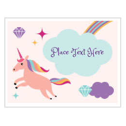 graphic regarding Free Printable Unicorn Template identify Absolutely free Themed Birthday Printables