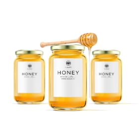 custom printed honey labels create personalized honey stickers