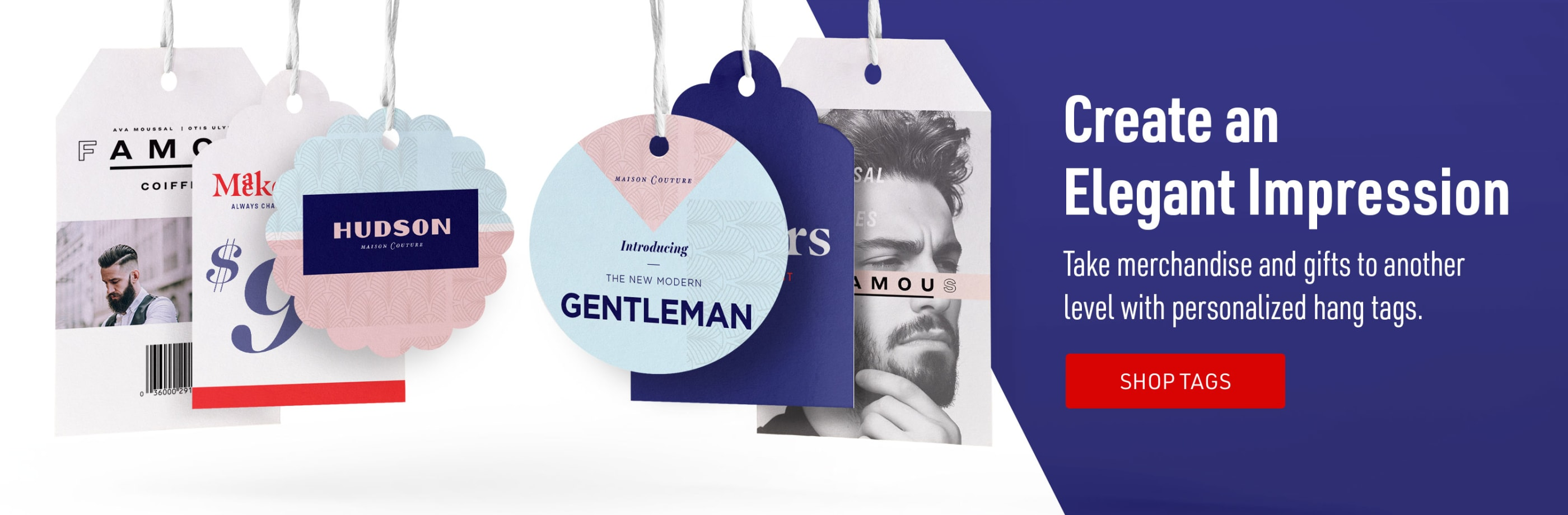 Create an Elegant Impression. Take merchandise & gifts to another level with premium hang tags