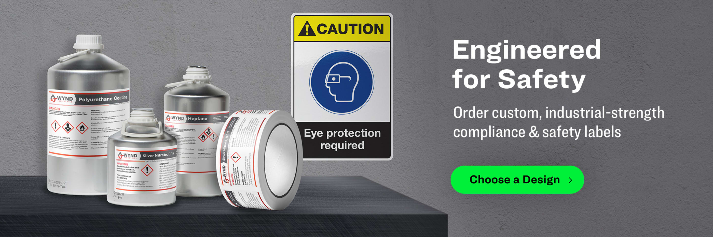 Engineered for Safety. Order custom, industrial-strength compliance & safety labels