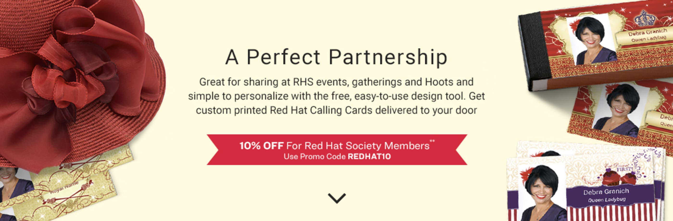 Red Hat Society and Avery WePrint™