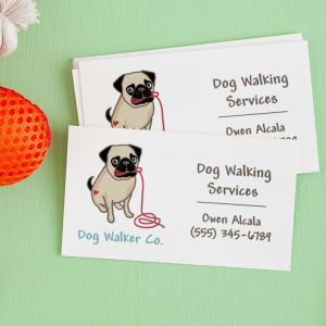 Boost your dog walking business with business cards avery colourmoves