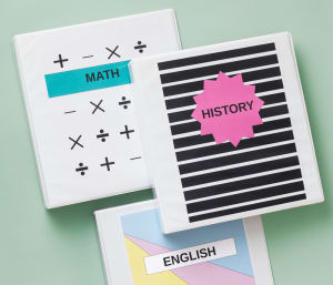 Personalize with Printable Binder Covers