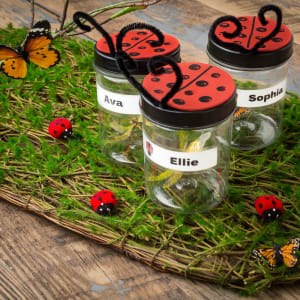 These jars are ready for the outdoors! Self-laminating labels are waterproof, UV resistant and resist scuffing, tearing and smudging.