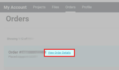 Log into My Avery account and click My Orders. Next to your order number, should be a link to View Order Details