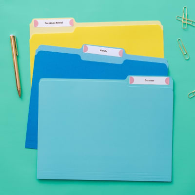 Create color-coded custom Avery File Folder Labels in Avery Design & Print.