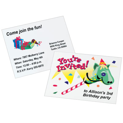 Create Birthday Invites | Personalized Birthday Invitations For Kids Giddy Up Avery Com