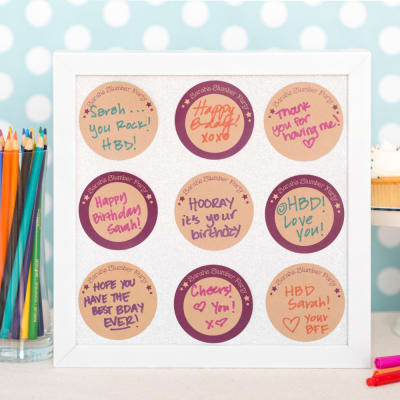 Showcase Personal Messages in a Picture Frame