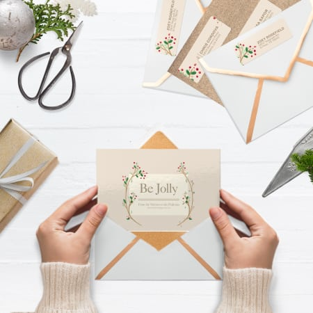 Create Festive Holiday Address Labels
