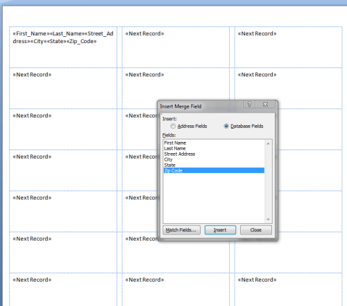 how do i import data from a spreadsheet  mail merge  using