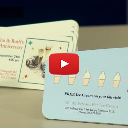 Two side printable clean edge business cards avery reheart Image collections