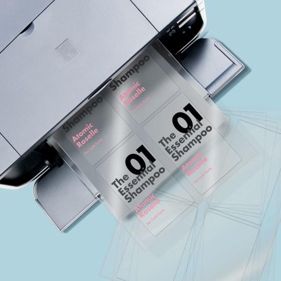 Clear Labels Blank Or Custom Printed