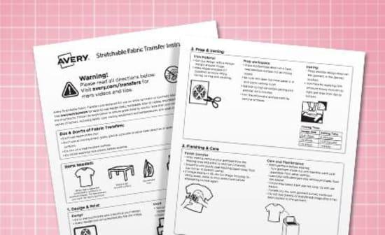 Fabric Transfers Make Your Own Custom Gear Avery Com