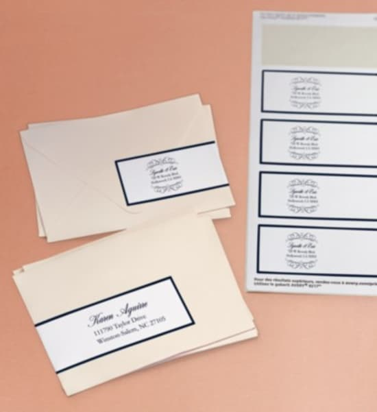 address and return address labels youll need for your invitations pre addressed response cards and thank you cards which youll be mailing out later