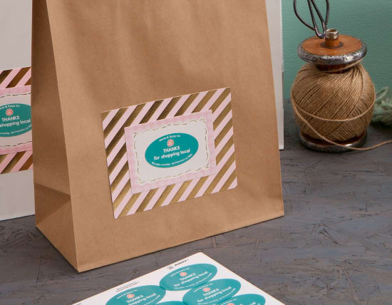 Branded bags will help market your business when customers carry their purchases out the door.