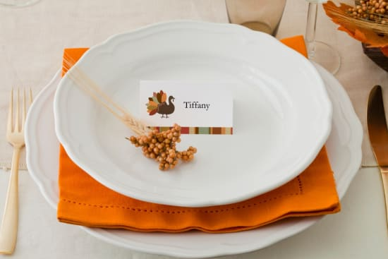 PLACE CARDS or BUFFET CARDS