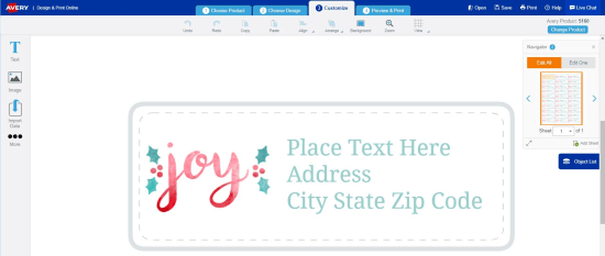 create festive holiday address labels avery com