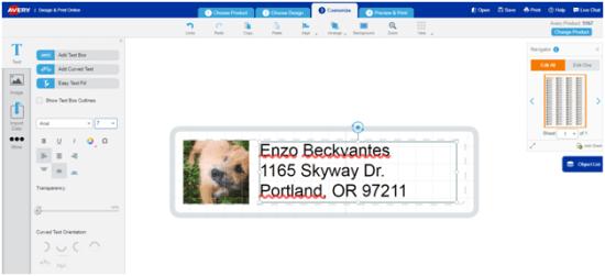 Create Photo Address Labels Avery