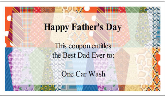 Create Something Dad Can Really Use—Father's Day Coupons!