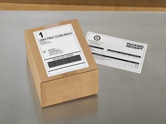 Five shipping tricks every business should know avery give your shipping boxes a custom printed look with avery brown kraft shipping labels these brown labels blend right onto cardboard so logos reheart Image collections