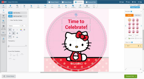 How To Create Cupcake Toppers For A Hello Kitty Party Avery