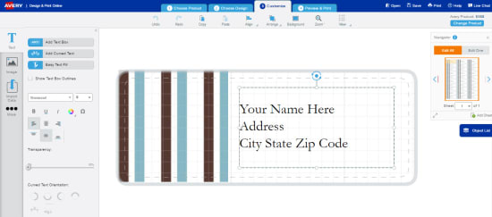 turn your address list into labels avery com