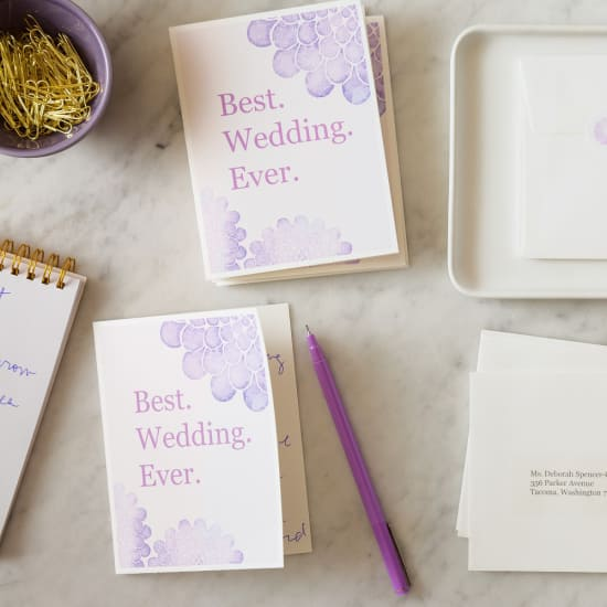 Wedding ThankYou Notes  AveryCom