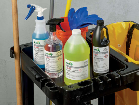 Strong, durable labels such as Avery UltraDuty™ GHS Chemical Labels resist chemicals, water and abrasion.