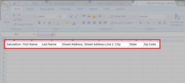 second open your project in avery design print online click import data on the left of the customize screen then click browse to find your excel or csv