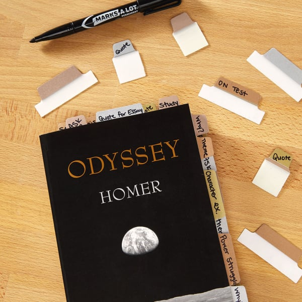 Odyssey by Homer with Metallic Note Tabs