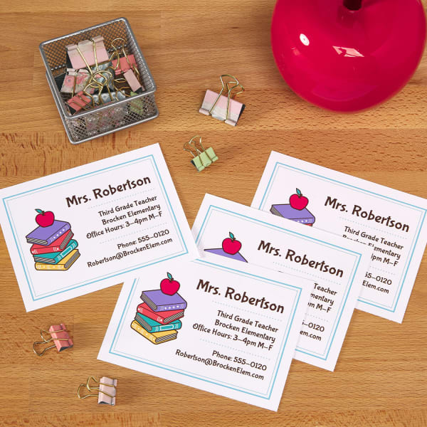 Fabulous 4 Smart Back To School Teacher Ideas For Your Classroom Avery Com Funny Birthday Cards Online Fluifree Goldxyz