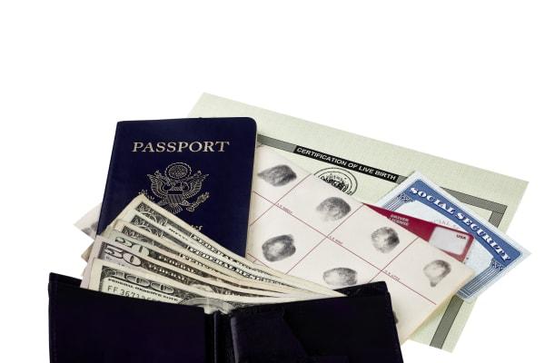 Passport Cash Fingerprints Social Birth Certificate