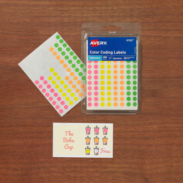 Multi Color Punch Cards Loyalty